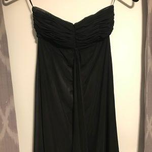 WHBM Strapless Black Dress
